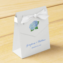 Blue Hydrangea Wedding Favor Box