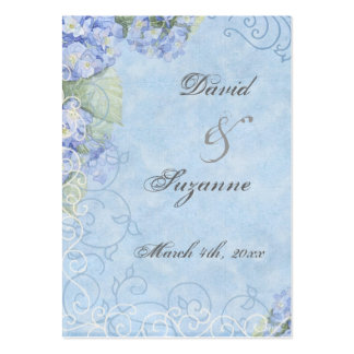 Blue Hydrangea - Wedding Favor Gift Tags Large Business Cards (Pack Of 100)