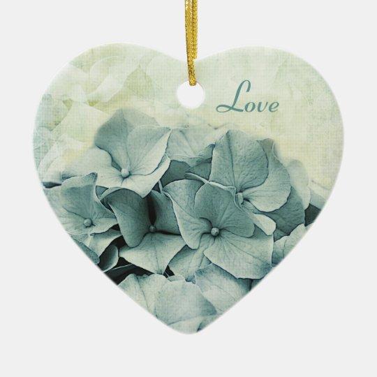 Blue hydrangea wedding ornament