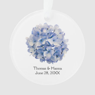 Blue Hydrangea Wedding Ornament