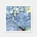 Blue Hydrangea Wedding Paper Napkins