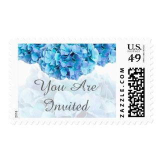 Blue hydrangea wedding postage hydrangea3