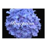 Blue Hydrangea Wedding Reception Details Card Personalized Announcements
