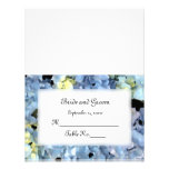 Blue Hydrangea Wedding Reception Place Card Personalized Announcement