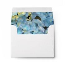 Blue Hydrangea Wedding RSVP Response Card Envelope
