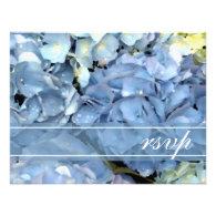 Blue Hydrangea Wedding RSVP Response Card Announcement