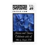 Blue Hydrangea Wedding Stamp