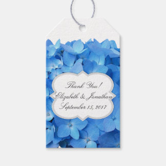 Blue Hydrangea Wedding Thank You Gift Tags