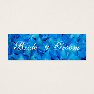 Blue Hydrangea Wedding Thank You tag Card