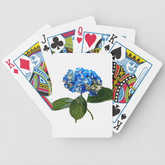 Blue Hydrangea With Leaves Bicycle Playing Cards