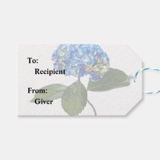 Blue Hydrangea With Leaves Gift Tags