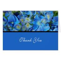 blue hydrangean  wedding, thank you card greeting card
