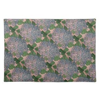 Blue Hydrangeas 1 Cloth Placemat