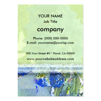 Blue Hydrangeas 1 Large Business Cards (Pack Of 100)