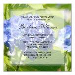 "Blue Hydrangeas 80th Birthday Party Invitations 5.25"" Square Invitation Card"