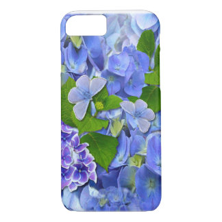 Blue Hydrangeas and Butterflies iPhone 7 Case
