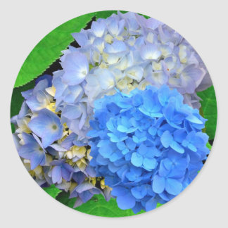 Blue Hydrangeas Bouquet Sticker