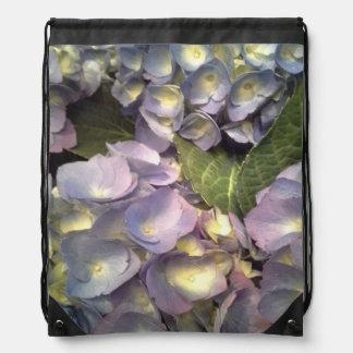 Blue Hydrangeas Drawstring Backpack