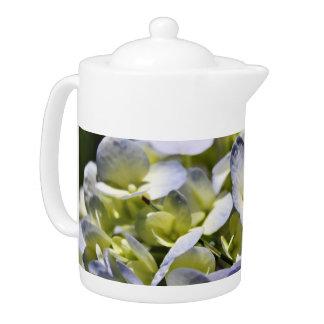 Blue Hydrangeas Flowers Teapot
