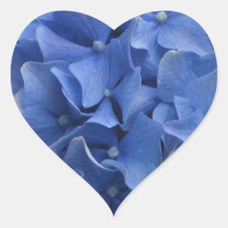 Blue Hydrangeas Heart Sticker