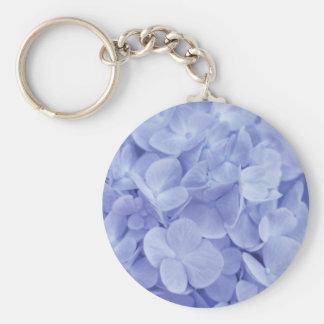 Blue Hydrangeas Basic Round Button Keychain