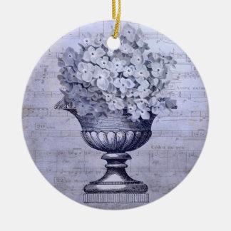 Blue Hydrangeas Ornament