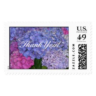 Blue Hydrangeas Postage Stamp