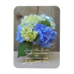 Blue Hydrangeas Save The Date Magnet