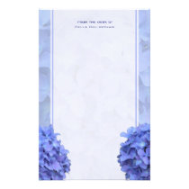 Blue Hydrangeas Stationery