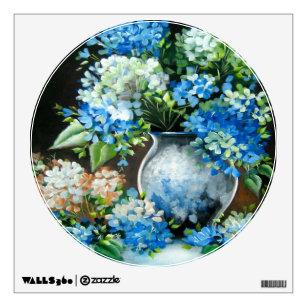 Blue Hydrangeas  Wall Decal
