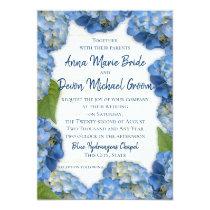 Blue Hydrangeas Wedding Card