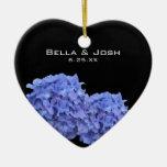 Blue Hydrangeas Wedding Ornament