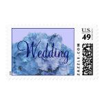 Blue Hydrangia Wedding Postage