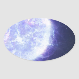 Blue Hypergiant Star Adomis Majoris Oval Sticker