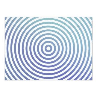 Blue hypnotic circles card