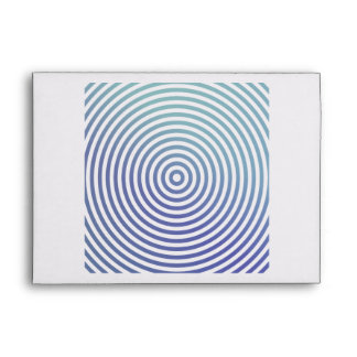 Blue hypnotic circles envelope