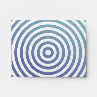 Blue hypnotic circles envelopes
