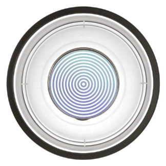 Blue hypnotic circles pet bowl