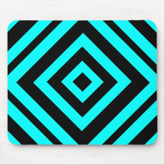 Blue  hypnotic  geometry mouse pad