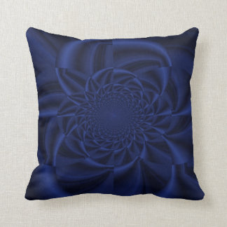 Blue Hypnotic Throw Pillow