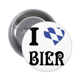 blue I love Bier icon 2 Inch Round Button