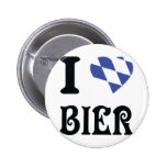 blue I love Bier icon Buttons