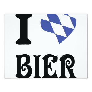 blue I love Bier icon Card