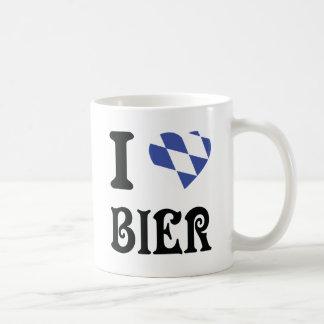 blue I love Bier icon Coffee Mug