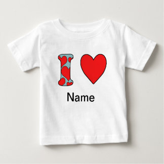 blue i love costomized baby T-Shirt