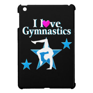 BLUE I LOVE GYMNASTICS DESIGN iPad MINI CASE