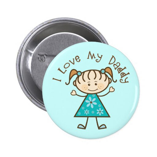 Blue I Love My Daddy Gift Buttons