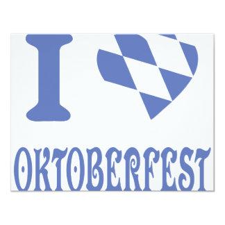 blue I love oktoberfest icon Card