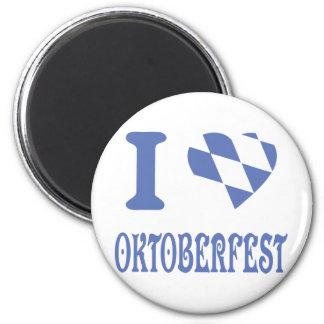 blue I love oktoberfest icon Magnet