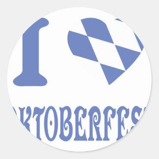 blue I love oktoberfest icon Sticker